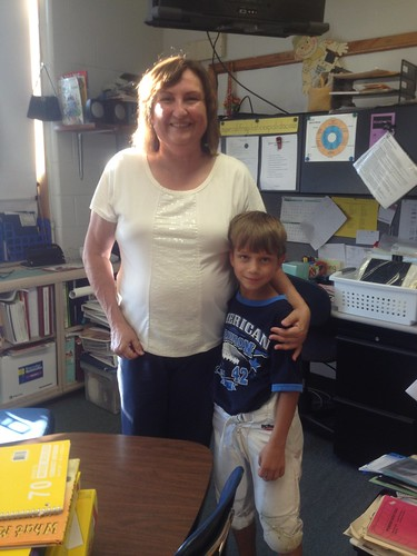 Chase and his 4th grade teacher