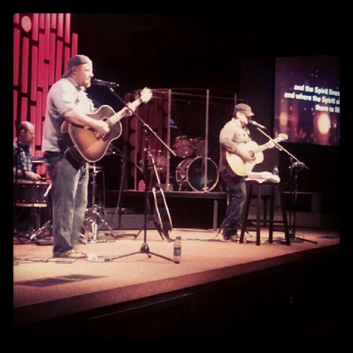 great night at church with @shaneandshane!!