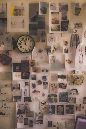 A wall of a Designer_デザイナーのアトリエ