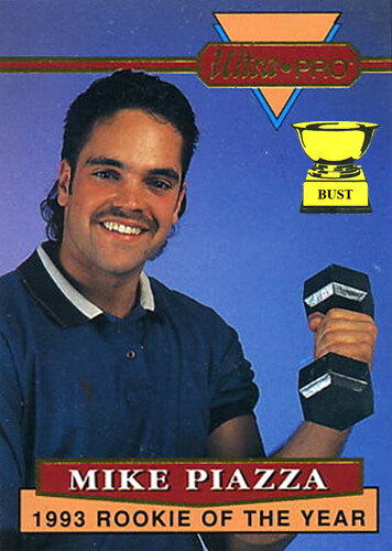 Baseball Card Bust Mike Piazza 1994 Ultra Pro