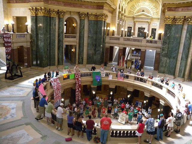 August 28, 2012 Solidarity Sing Along-Photo from Lisa Wells