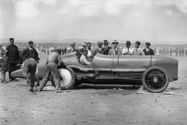 1925 Campbell Sunbeam Blue Bird No 1 at Pendine Sands