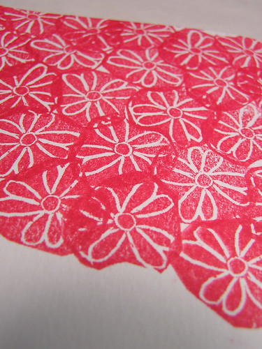 stamp carving small flowers