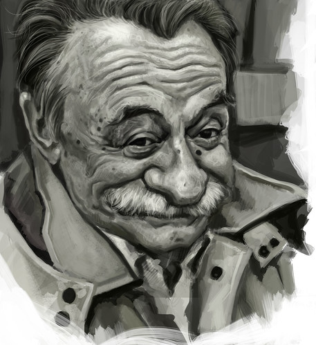 digital caricature of Mario Benedetti - 3