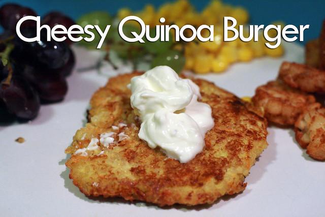 Cheesy Quinoa Burger