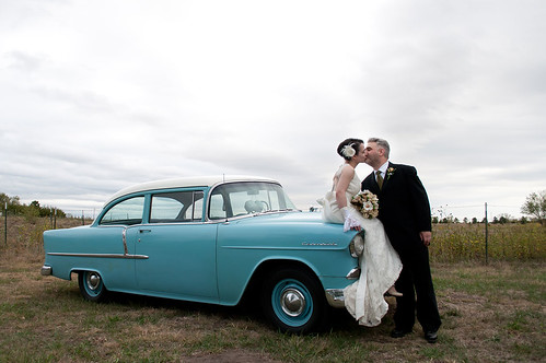 Kissing, the '55 and clouds