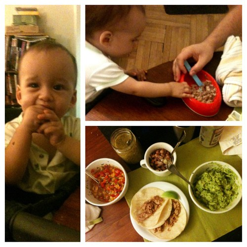 Little guy wasn't too sick for carnitas.