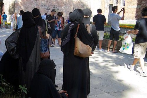 Arab tourists at Hagia Sophia
