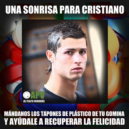 Tapones gomina recogida Cristiano Ronaldo