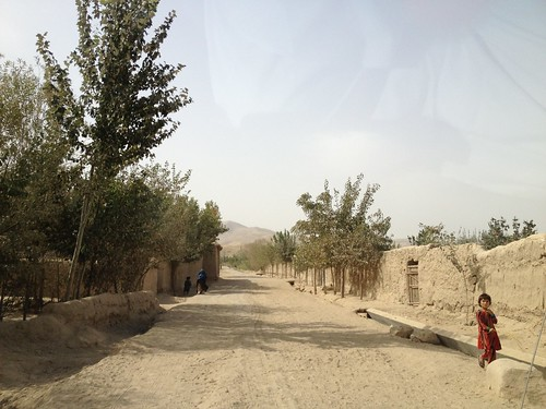 road bridge people afghanistan children landscape agriculture chal lifestock takhar developement