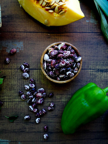 heirloom bean + acorn squash chili