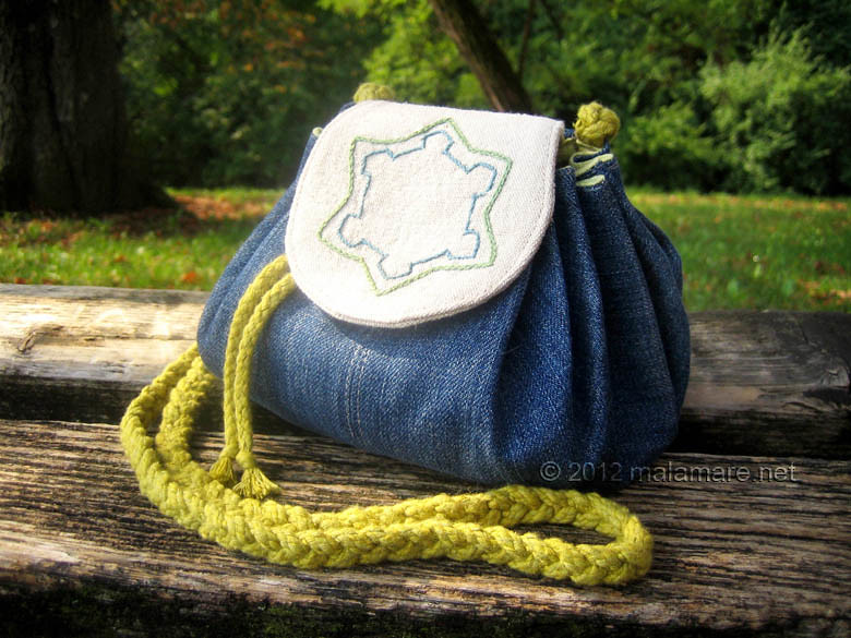 handmade handbag with karlovac renaissance star fortress embroidery
