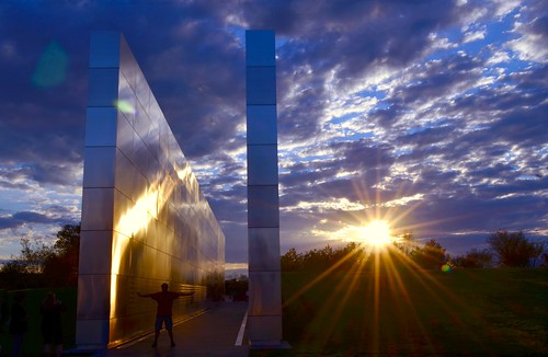 9/11 Memorial at Sunset  ~ Explored September 10, 2012 ~