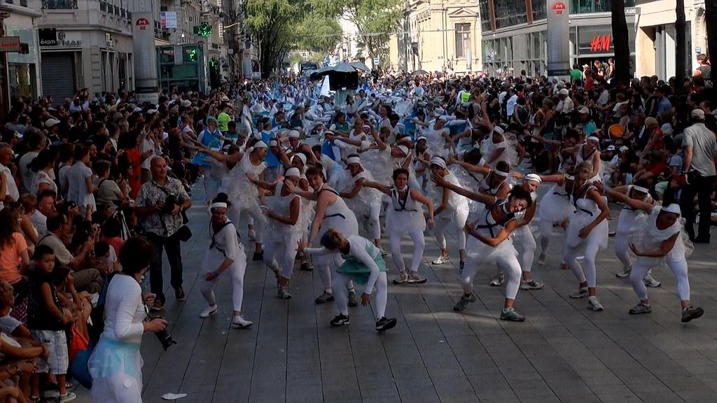 Pluie de Danse à la Biennale de la Danse le 09/09/2012