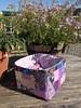 Purple Patchwork Scrap Box by Pretty Flowers in the Window