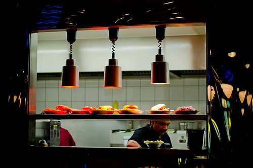 Under The Heat Lamps. Kitchen