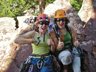Two Happy Climbergirls