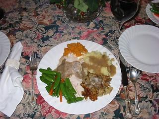 Thanksgiving dinner, all the trimmings, November 2004
