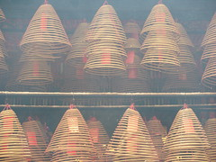 Incense coils at Man Mo Temple, Tai Po