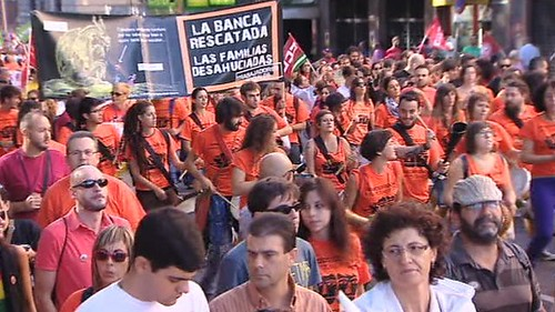 Mass demonstration in Madrid, Spain against austerity. Demonstrations also took place in Portugal. by Pan-African News Wire File Photos