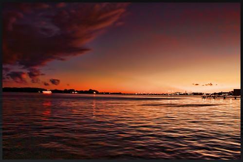 Sunset at Toronto Centre Island