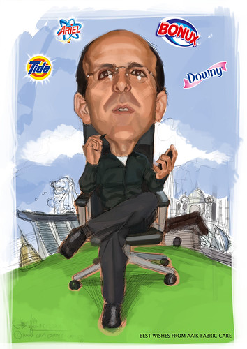 digital caricature for P&G - 2