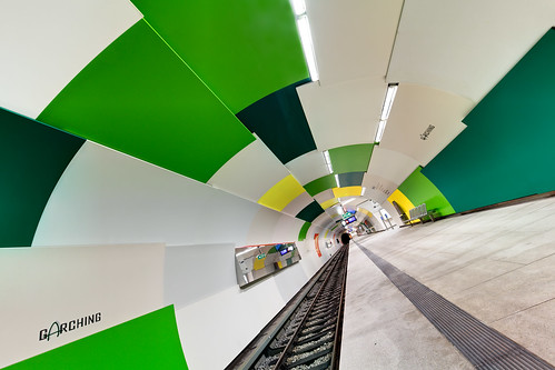 Subway Tunnel with Green Tiles