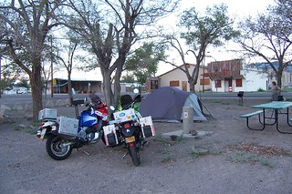 Camping in downtown Mina, Nevada