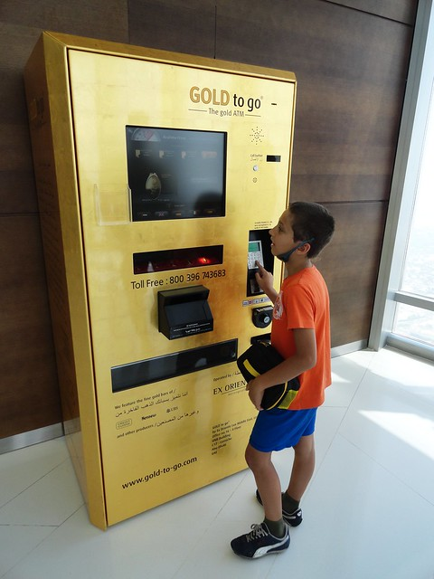 Gold Bars ATM in Dubai