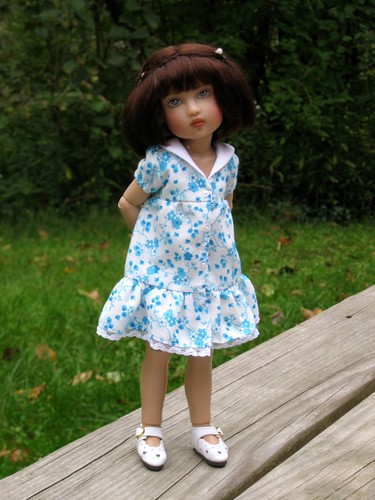 Chrysalis Bethany in blue dress by elizabeth's*whimsies