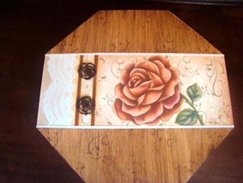 pintura decorativa rosas