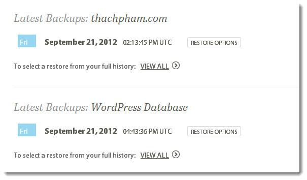 Sao lưu blog WordPress dễ dàng với Codeguard - Bạn đã thử chưa? 204