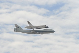 :: NASA's Shuttle Carrier Aircraft (SCA) with Space Shuttle Endeavour Securely Mounted on Top