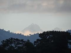 Die Berge des Himalaya früh am Morgen