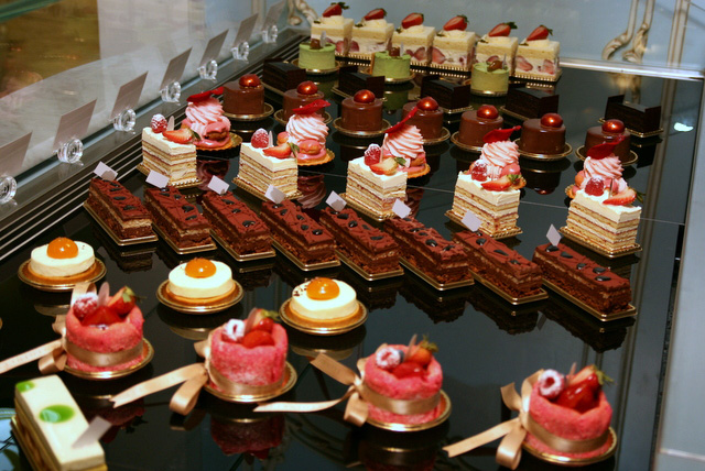 Lovely array of cakes and pastries