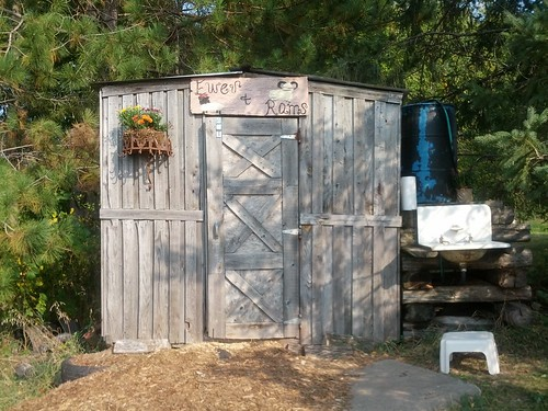 Sawdust outhouse