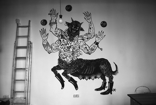 zine animal monster bbw exhibition human devil beast hybrid murales plovdiv bulgarian monstro fanzine humanimal pubblicazione artnewscafe rayarayax bbw6 rosieeisor