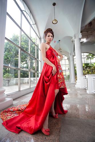 [フリー画像素材] 人物, 女性 - アジア, ワンピース・ドレス, 台湾人 ID:201212010800