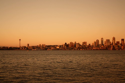 Sunset at Alki Beach