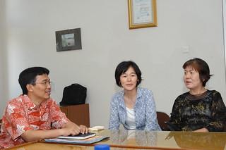 Dekan Fakultas Dakwah, Bapak Waryono dengan dosen dari Nara Prefectural University Jepang