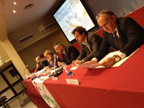 Il tavolo dei relatori del convegno