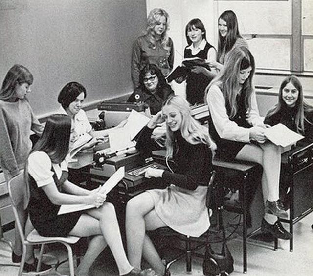 Vintage Teachers In Mini Skirts