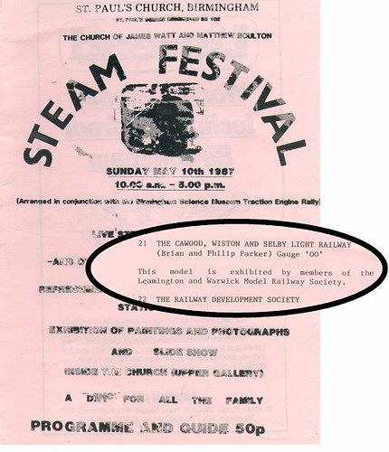St Paul's Steam Festival 1987 Programme
