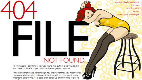 Trang báo lỗi 404 phong cách sexy
