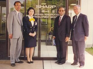Mr. Zaveri visits Sharp, Osaka, Japan.