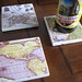 Map coasters by vermontgirl