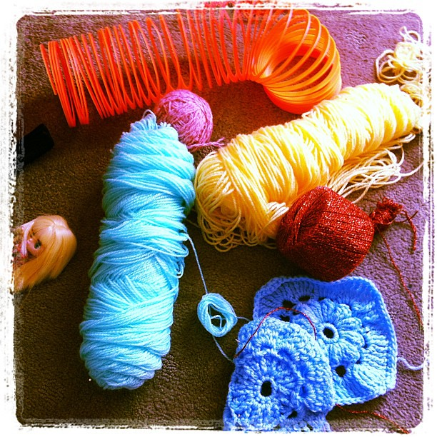 Yarn bombing #crafting #yarn #owlets #seriousbusiness