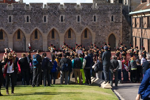 The band during changing of the guard at windsor castle by JenGallardo on Flickr.  Used through creative commons.