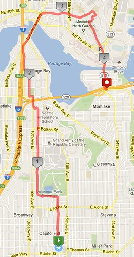 New Monday-Thursday morning route, 4.27 miles in 1:21 by christopher575