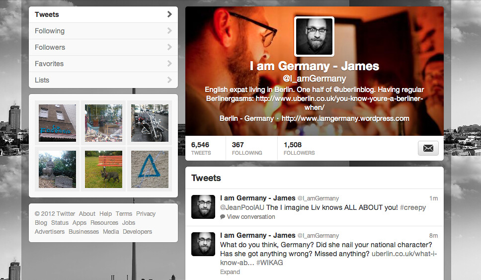 I am Germany Twitter page